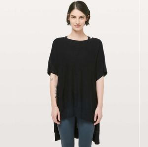 Lululemon Be At Ease Poncho with Cashmere in Black